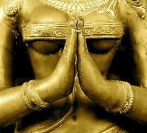 Tantric statue, detail: Namaste, I Honour the Divine in You - Thank You!