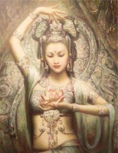 Dancer with Lotus - Welcome to Tantric Massage!